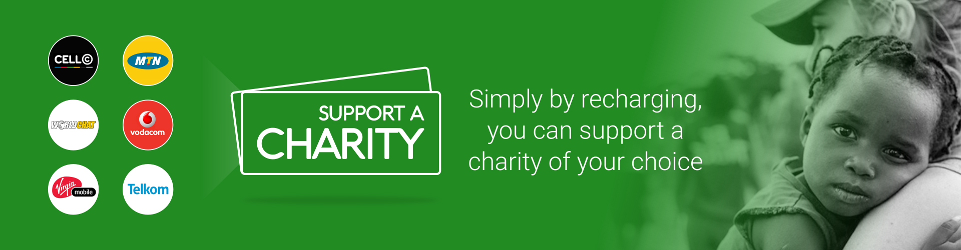 Charity Airtime - Buy airtime to support a charity