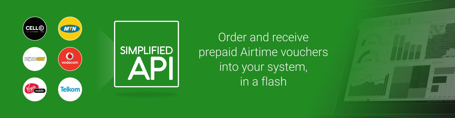 Easy to use Airtime API, sell MTN, vodacom and Telkom vouchers